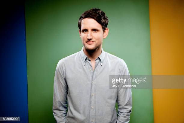 Actor Zach Woods from the film The Lego Ninjago Movie is photographed in the LA Times photo studio at ComicCon 2017 in San Diego CA on July 21 2017...