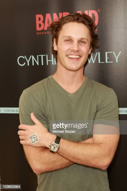 Actor Zachary Abel at the Band-Aid booth during Kari Feinstein Primetime Emmy Awards Style Lounge Day 1 held at Montage Beverly Hills hotel on August...