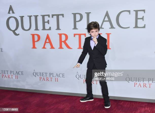 """Actor Zachary Golinger attends Paramount Pictures' """"A Quiet Place Part II"""" world premiere at Rose Theater, Jazz at Lincoln Center on March 8, 2020 in..."""
