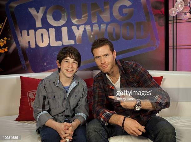 Actor Zachary Gordon and host Oliver Trevena visit YoungHollywoodcom at the Young Hollywood Studio on March 7 2011 in Los Angeles California