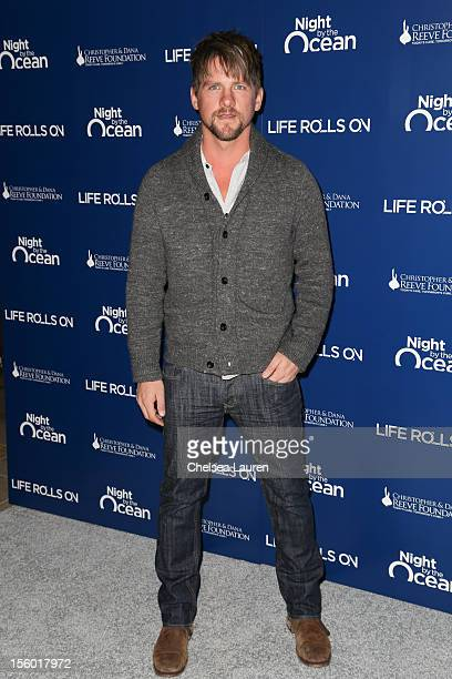 Actor Zachary Knighton arrives at the Life Rolls On foundation's 9th annual Night by the Ocean gala at Ritz Carlton Hotel on November 10 2012 in...