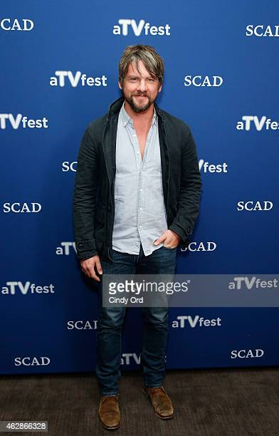 Actor Zachary Knighton attends the 'Weird Loners' press junket during aTVfest presented by SCAD on February 6 2015 in Atlanta Georgia