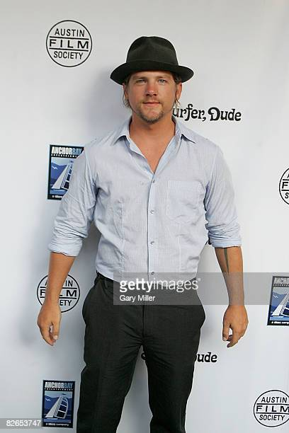 Actor Zachary Knighton attends the world premiere of Anchor Bay's Surfer Dude which benefitted the Austin Film Society at the Paramount theater on...