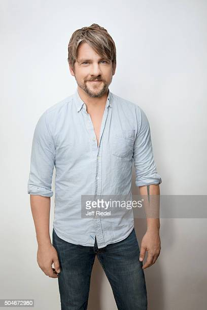Actor Zachary Knighton is photographed for TV Guide Magazine on January 17 2015 in Pasadena California
