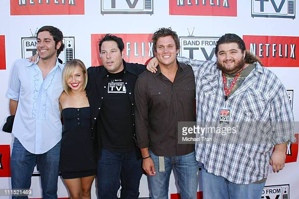 Actor Zachary Levi Actress Hayden Panettiere Actors Greg Grunberg Bob Guiney and Jorge Garcia arrive to the Netflix Live On Location concert series...