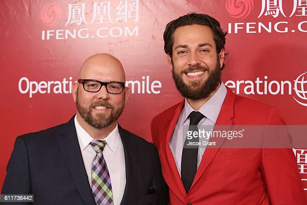 Actor Zachary Levi and David Coleman attend Operation Smile's Annual Smile Gala at the Beverly Wilshire Four Seasons Hotel on September 30 2016 in...
