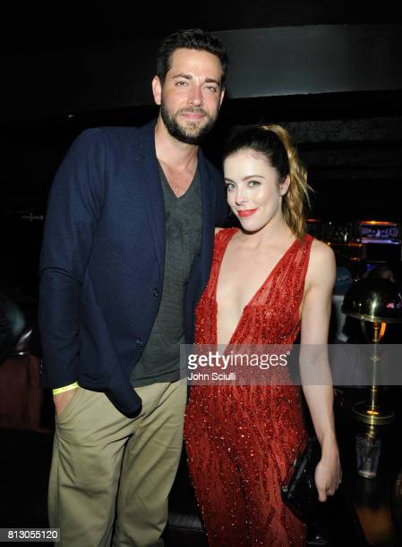 Actor Zachary Levi and figure skater Ashley Wagner at BODY at ESPYS at Avalon on July 11 2017 in Hollywood California