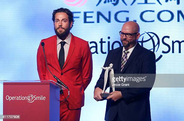 Actor Zachary Levi and The Nerd Machine cofounder David Coleman attend Operation Smile's Annual Smile Gala at the Beverly Wilshire Four Seasons Hotel...