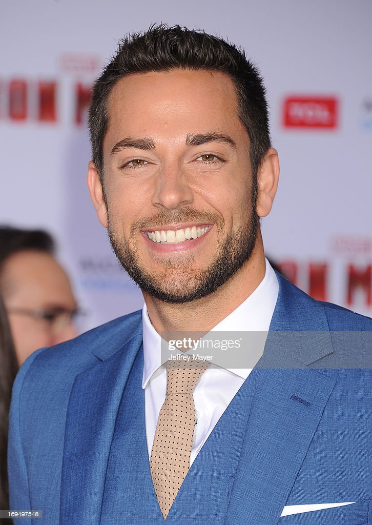 Actor Zachary Levi arrives at the Los Angeles Premiere of 'Iron Man 3' at the El Capitan Theatre on April 24, 2013 in Hollywood, California.