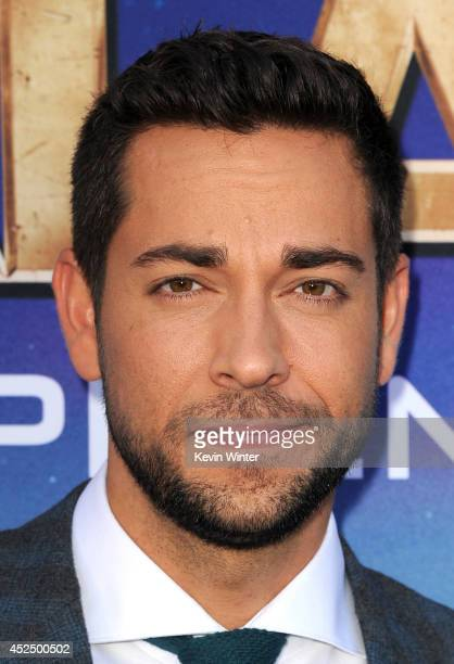 Actor Zachary Levi attends the premiere of Marvel's 'Guardians Of The Galaxy' at the Dolby Theatre on July 21 2014 in Hollywood California
