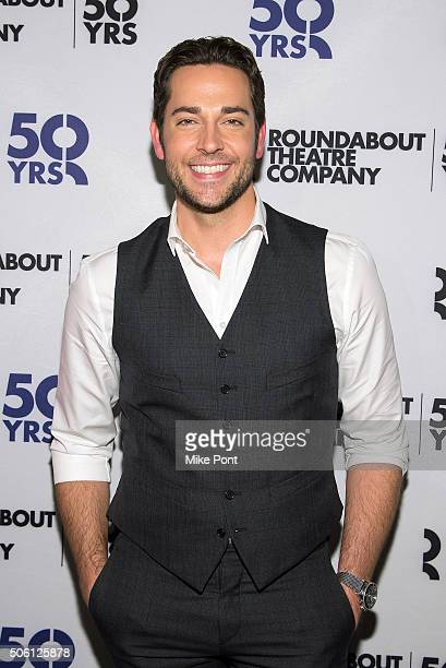 Actor Zachary Levi attends the She Loves Me Press Preview at 54 Below on January 21 2016 in New York City