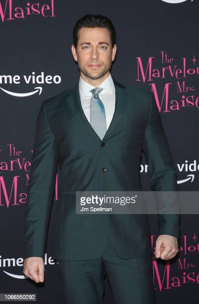 Actor Zachary Levi attends the The Marvelous Mrs Maisel New York premiere at The Paris Theatre on November 29 2018 in New York City