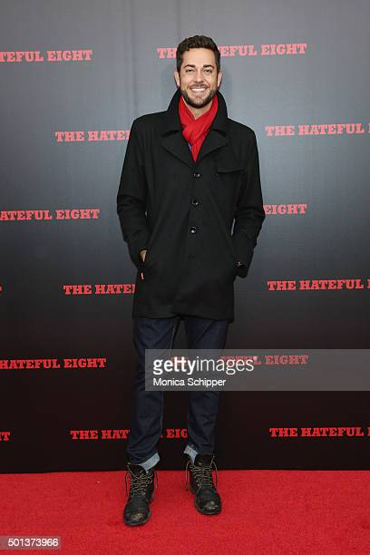 Actor Zachary Levi attends the The New York premiere Of 'The Hateful Eight' on December 14 2015 in New York City