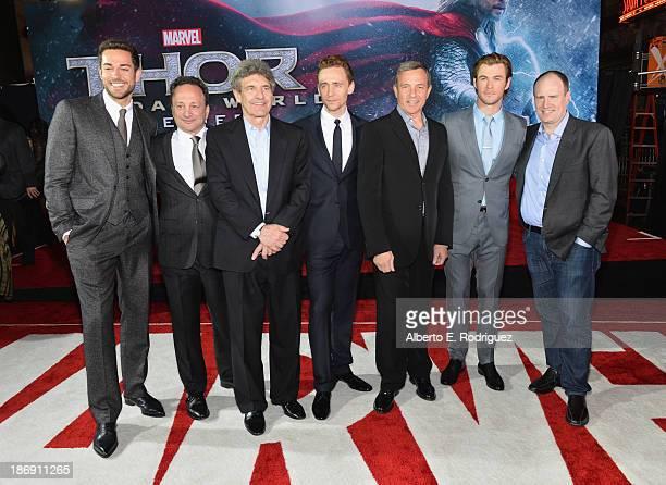 Actor Zachary Levi executive producer Louis D'Esposito Chairman of the Walt Disney Studios Alan Horn actor Tom Hiddleston Chairman and Chief...