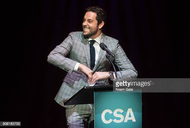 Actor Zachary Levi speaks at the 31st annual Artios Awards at Hard Rock Cafe Times Square on January 21 2016 in New York City
