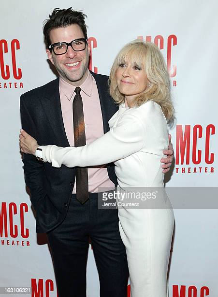 Actor Zachary Quinto and actress and event Honoree Judith Light attend Miscast 2013 at Hammerstein Ballroom on March 4, 2013 in New York City.