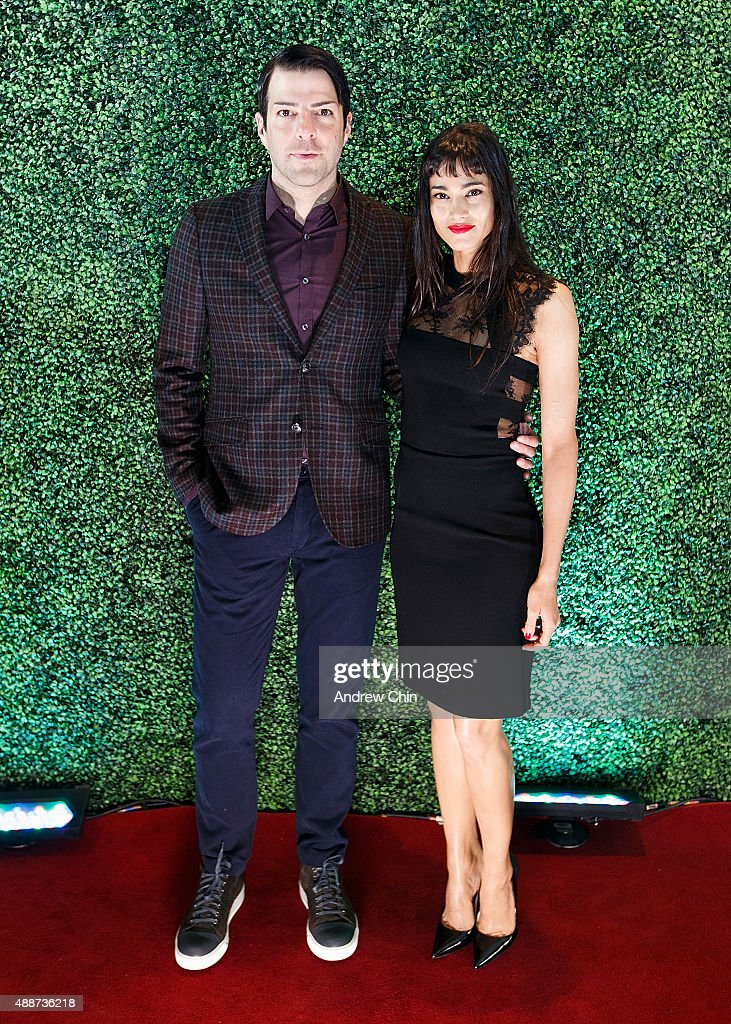 Actor Zachary Quinto and Dancer Sofia Boutella attend Nordstrom Vancouver Store Opening Gala Red Carpet at Vancouver Art Gallery on September 16, 2015 in Vancouver, Canada.