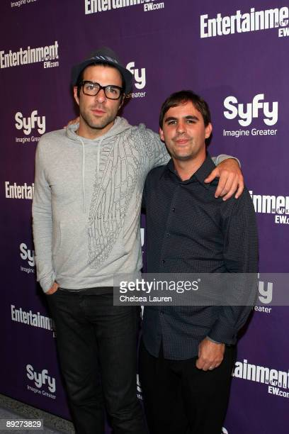 Actor Zachary Quinto and writer Roberto Orci attend the Entertainment Weekly and Syfy party celebrating Comic-Con at Hotel Solamar on July 25, 2009...