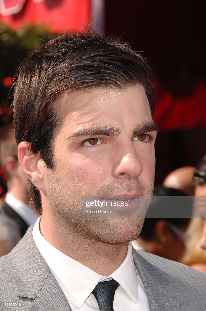 Actor Zachary Quinto arrives at the 59th Annual Primetime Emmy Awards at the Shrine Auditorium on September 16, 2007 in Los Angeles, California.
