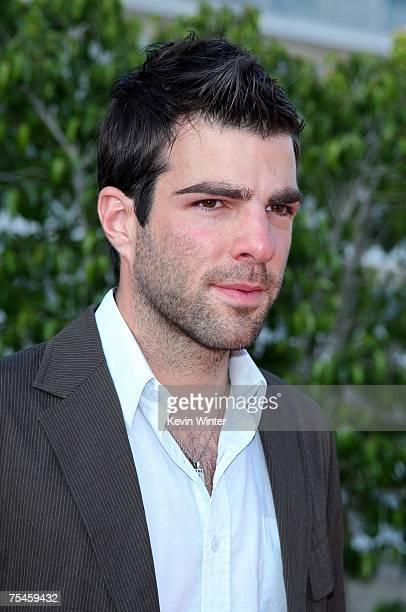 Actor Zachary Quinto arrives to the NBC AllStar Party held during the 2007 Summer Television Critics Association Press Tour at the Beverly Hilton...