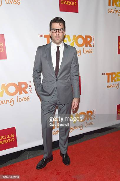 Actor Zachary Quinto attends 2014 'TrevorLIVE NY' Benefit at Marriott Marquis Hotel on June 16 2014 in New York City