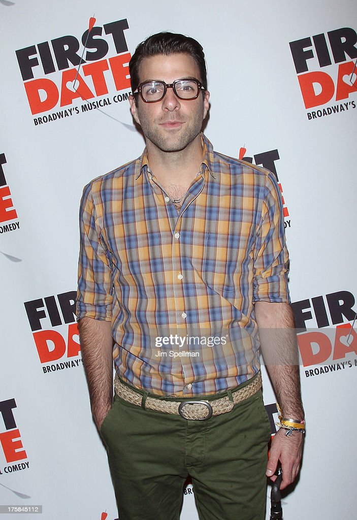 Actor Zachary Quinto attends 'First Date' Broadway Opening Night at Longacre Theatre on August 8, 2013 in New York City.