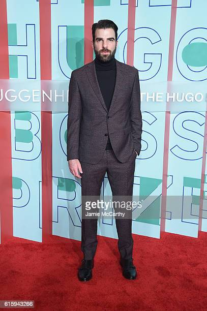 Actor Zachary Quinto attends HUGO BOSS and GUGGENHEIM celebration of the 20th Anniversary of the HUGO BOSS Prize at Solomon R Guggenheim Museum on...