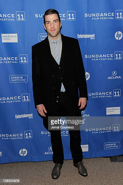 Actor Zachary Quinto attends Margin Call Premiere at the Eccles Center Theatre during the 2011 Sundance Film Festival on January 25 2011 in Park City...