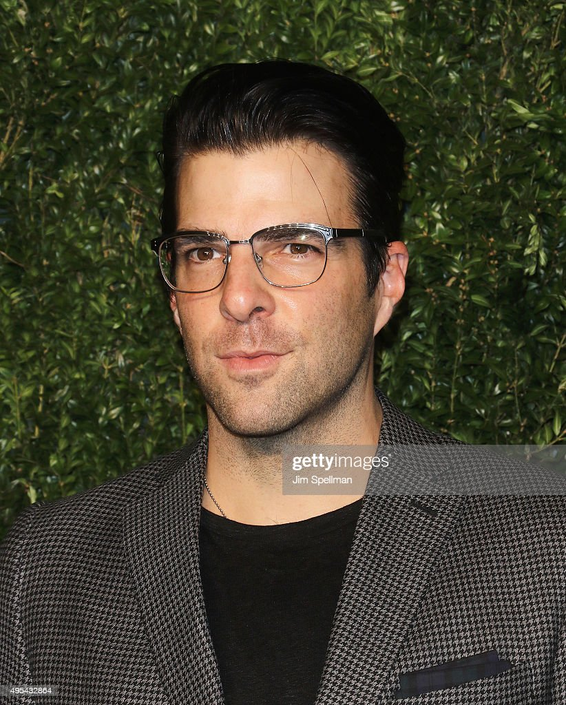 Actor Zachary Quinto attends the 12th annual CFDA/Vogue Fashion Fund Awards at Spring Studios on November 2, 2015 in New York City.