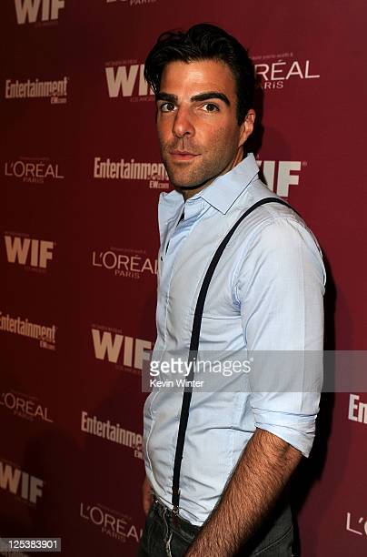 Actor Zachary Quinto attends The 2011 Entertainment Weekly And Women In Film Pre-Emmy Party Sponsored By L'Oreal at BOA Steakhouse on September 16,...