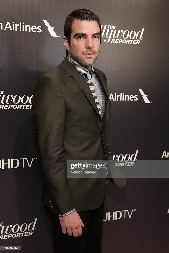 Actor Zachary Quinto attends 'The 35 Most Powerful People In Media' celebrated by The Hollywoood Reporter at Four Seasons Restaurant on April 8, 2015 in New York City.