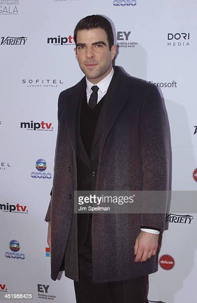 Actor Zachary Quinto attends the 41st International Emmy Awards at the Hilton New York on November 25 2013 in New York City