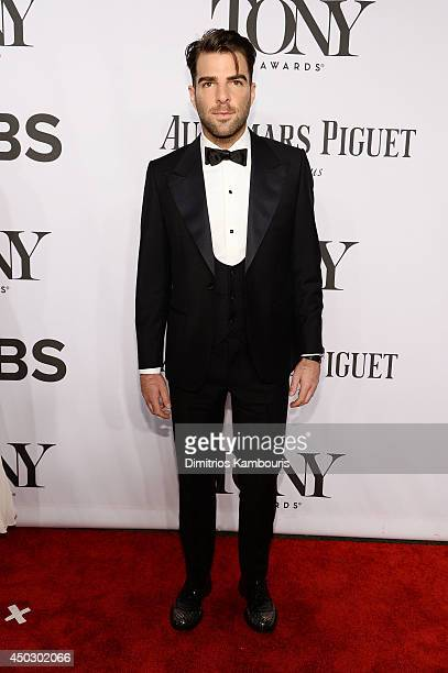 Actor Zachary Quinto attends the 68th Annual Tony Awards at Radio City Music Hall on June 8 2014 in New York City