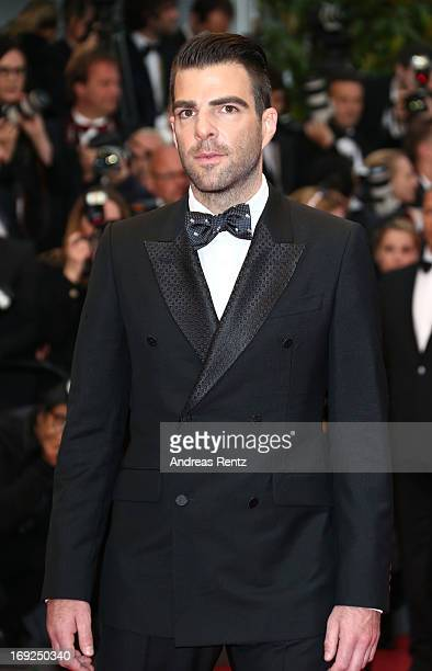Actor Zachary Quinto attends the 'All Is Lost' Premiere during the 66th Annual Cannes Film Festival at Palais des Festivals on May 22 2013 in Cannes...