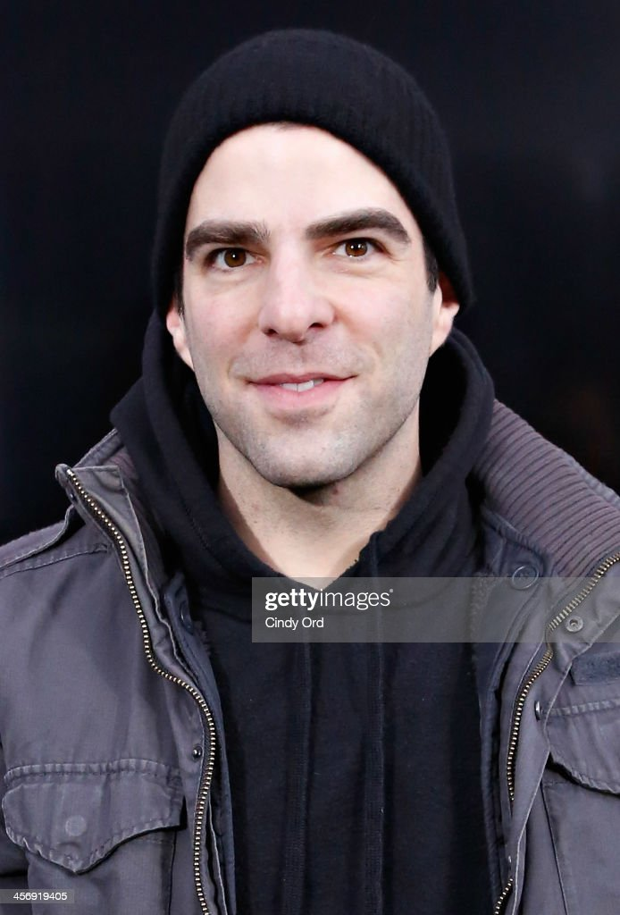 Actor Zachary Quinto attends the Anchorman 2: The Legend Continues Premiere, Sponsored by Buffalo David Bitton on December 15, 2013 in New York City.