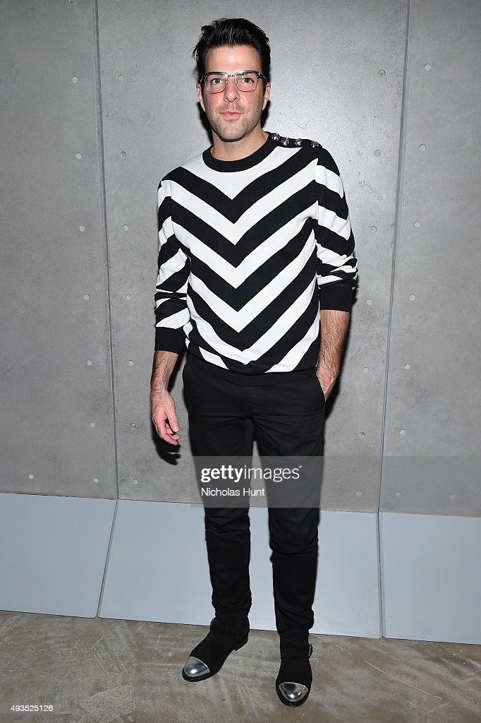 Actor Zachary Quinto attends the BALMAIN X H&M Collection Launch at 23 Wall Street on October 20, 2015 in New York City.