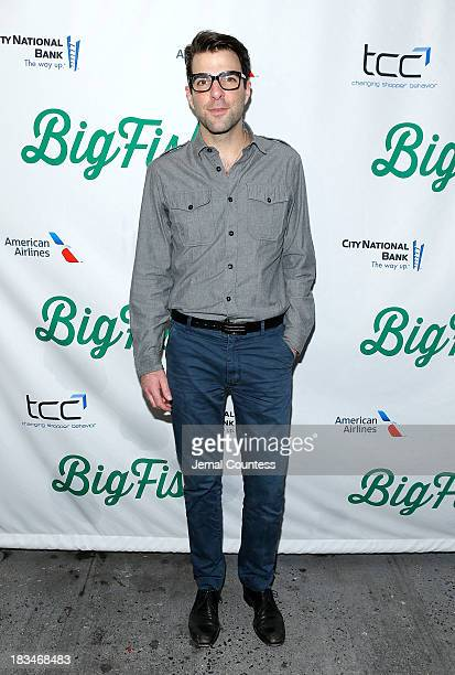 Actor Zachary Quinto attends the Broadway opening night of Big Fish at Neil Simon Theatre on October 6 2013 in New York City
