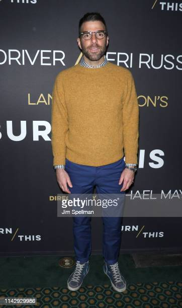 Actor Zachary Quinto attends the Burn This opening night at Hudson Theatre on April 15 2019 in New York City
