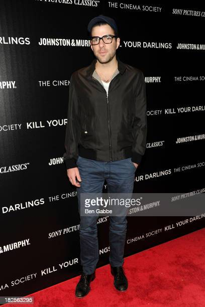 """Actor Zachary Quinto attends The Cinema Society and Johnston & Murphy host a screening of Sony Pictures Classics' """"Kill Your Darlings"""" at the Paris..."""