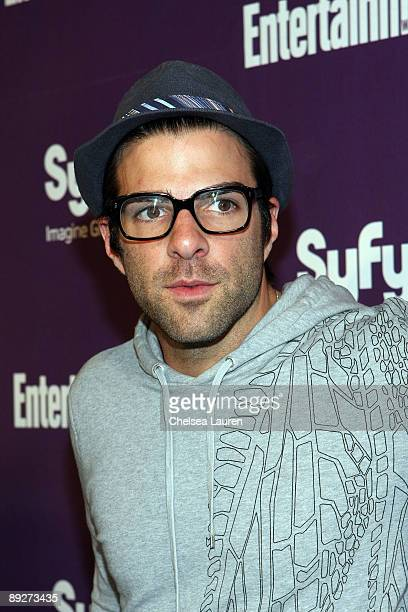 Actor Zachary Quinto attends the Entertainment Weekly and Syfy party celebrating Comic-Con at Hotel Solamar on July 25, 2009 in San Diego, California.