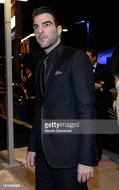 Actor Zachary Quinto attends the Governors Ball during the 65th Annual Primetime Emmy Awards at Nokia Theatre LA Live on September 22 2013 in Los...