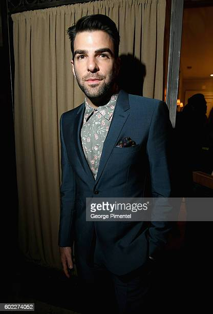 Actor Zachary Quinto attends the Hollywood Foreign Press Association and InStyle's annual celebration of the Toronto International Film Festival at...