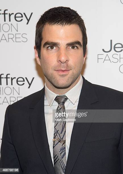 Actor Zachary Quinto attends the Jeffrey Fashion Cares 2015 at ArtBeam on April 6 2015 in New York City