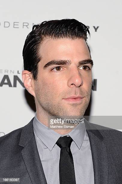 Actor Zachary Quinto attends the Manhattan Magazine Men's Issue Party at PHD Rooftop Lounge at Dream Downtown on April 9 2013 in New York City