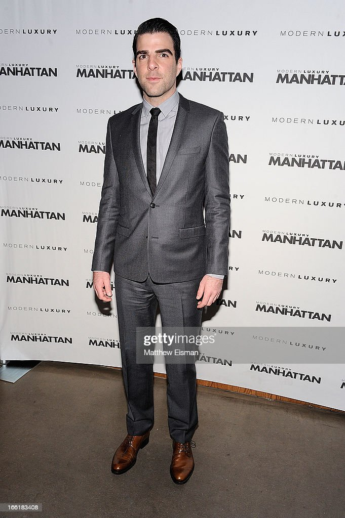 Actor Zachary Quinto attends the Manhattan Magazine Men's Issue