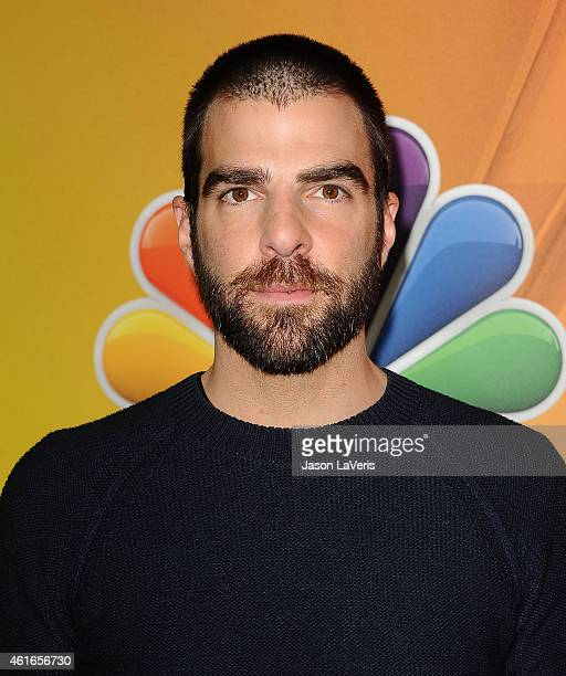 Actor Zachary Quinto attends the NBCUniversal 2015 press tour at The Langham Huntington Hotel and Spa on January 16 2015 in Pasadena California