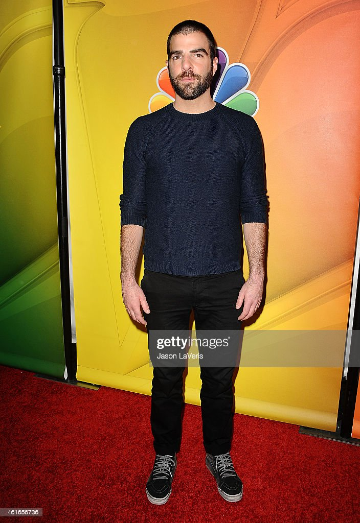 Actor Zachary Quinto attends the NBCUniversal 2015 press tour at The Langham Huntington Hotel and Spa on January 16, 2015 in Pasadena, California.