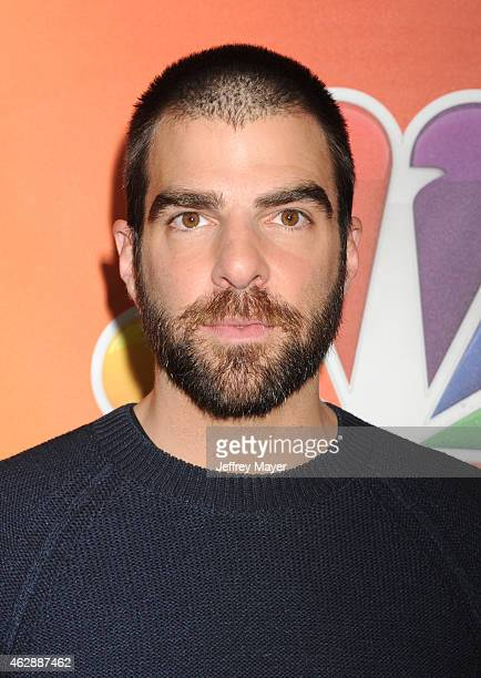Actor Zachary Quinto attends the NBCUniversal 2015 Press Tour at the Langham Huntington Hotel on January 16 2015 in Pasadena California
