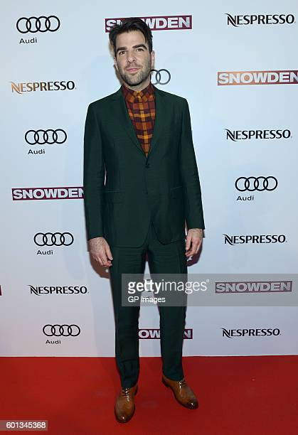 Actor Zachary Quinto attends the Official PreParty For Snowden CoHosted by Audi and Nespresso at Lavelle on September 9 2016 in Toronto Canada