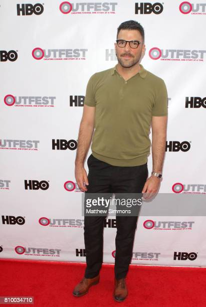 Actor Zachary Quinto attends the opening night gala of 'God's Own Country' at the 2017 Outfest Los Angeles LGBT Film Festival at Orpheum Theatre on...